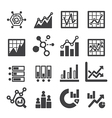analytics icon set vector image vector image