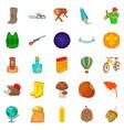 autumn fun icons set cartoon style vector image vector image