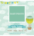 baarrival card with photo frame vector image vector image