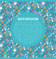 bathroom equipment concept with thin line icons vector image vector image