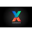blue orange letter x alphabet logo design icon vector image vector image
