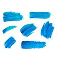 blue watercolor brush strokes abstract vector image