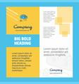 brain circuit company brochure title page design vector image vector image