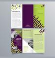 brochure design 839 vector image