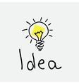 bulb drawing vector image vector image