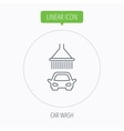 Car wash icon Cleaning station with shower sign vector image vector image