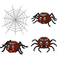 cartoon spider collections set vector image vector image