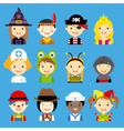 children dressed avatar vector image