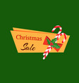 christmas sale tag template with decoration candy vector image vector image