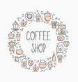 coffee shop concept set of vector image
