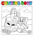 coloring book with easter theme 2 vector image vector image