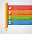 Creative education infographics template with vector image