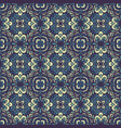 damask floral blue seamless tiles design vector image vector image