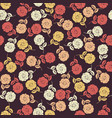 endless pattern with colorful roses vector image