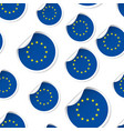 europe union flag sticker seamless pattern vector image