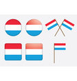 flag of Luxembourg vector image vector image