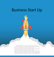 flat concept rocket startup business vector image vector image