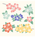 flowers set colorful floral collection with vector image