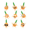 funny onions - isolated cartoon emoticons vector image vector image