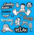 Funny relax set collection vector image vector image