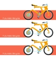 Futuristic Bicycle and Banner vector image vector image