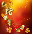 Golden Autumn Leaves vector image vector image