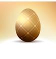 Golden egg with vintage pattern decoration EPS 8 vector image