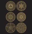golden occult mystic spiritual esoteric vector image