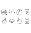 good mood checked file and graduation cap icons vector image