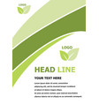 green flyer brochure template design vector image vector image