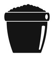 ground pot icon simple style vector image