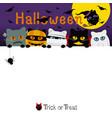 halloween cats costume banner design vector image vector image