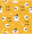 halloween seamless design elements pattern vector image vector image