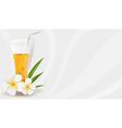 healthy juice banner vector image vector image