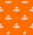 hot street food pattern orange vector image vector image
