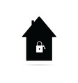 house with a padlock vector image vector image