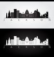 jackson usa skyline and landmarks silhouette vector image vector image