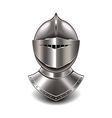 knight helmet isolated vector image vector image