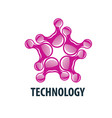 logo technology vector image vector image
