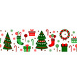merry christmas decorations elements seamless vector image vector image