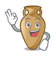 okay amphora character cartoon style vector image