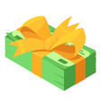 pack dollars gift icon isometric style vector image vector image