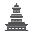 pagoda glyph icon japan and architecture vector image