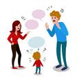 parents quarrel with child cartoon