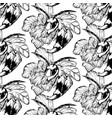 pattern with hand drawn hornets vector image