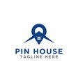 pin map and house logo design template vector image