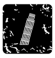 Pisa Tower icon grunge style vector image vector image
