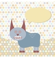 Polka dot background pattern Funny cute monster vector image vector image