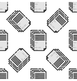 Polygraphy flat pattern vector image vector image
