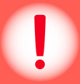 Red warning exclamation mark on a red background